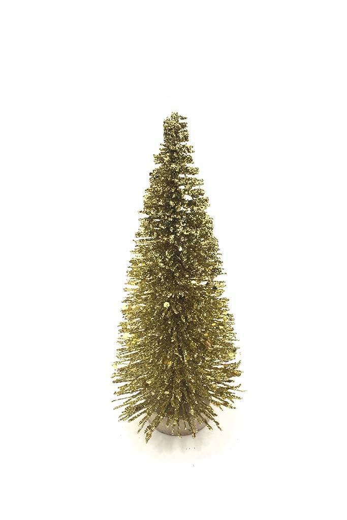 Narrow Gold Glitter Tree