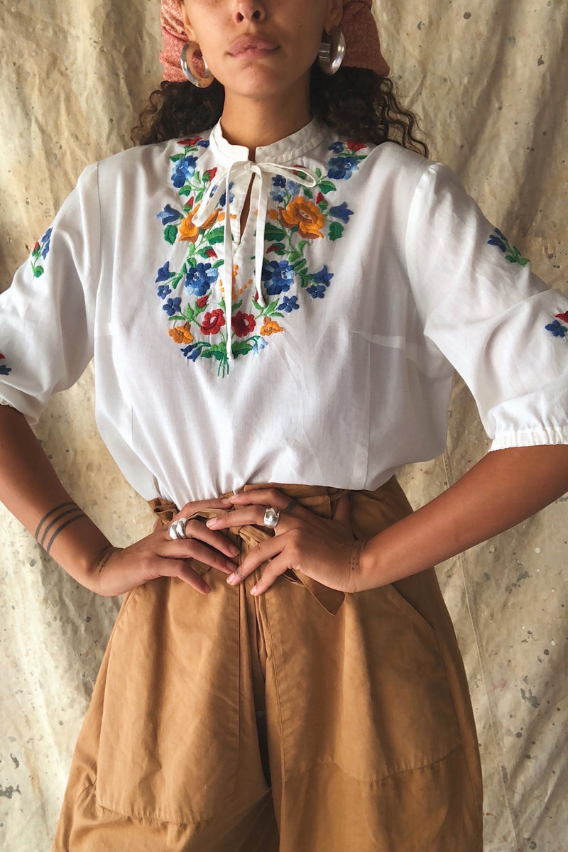 1970's Embroidered Blouse