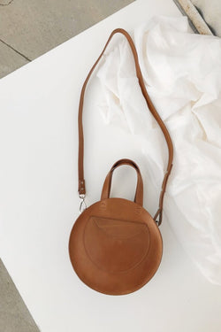 Cognac Velita Circle Crossbody
