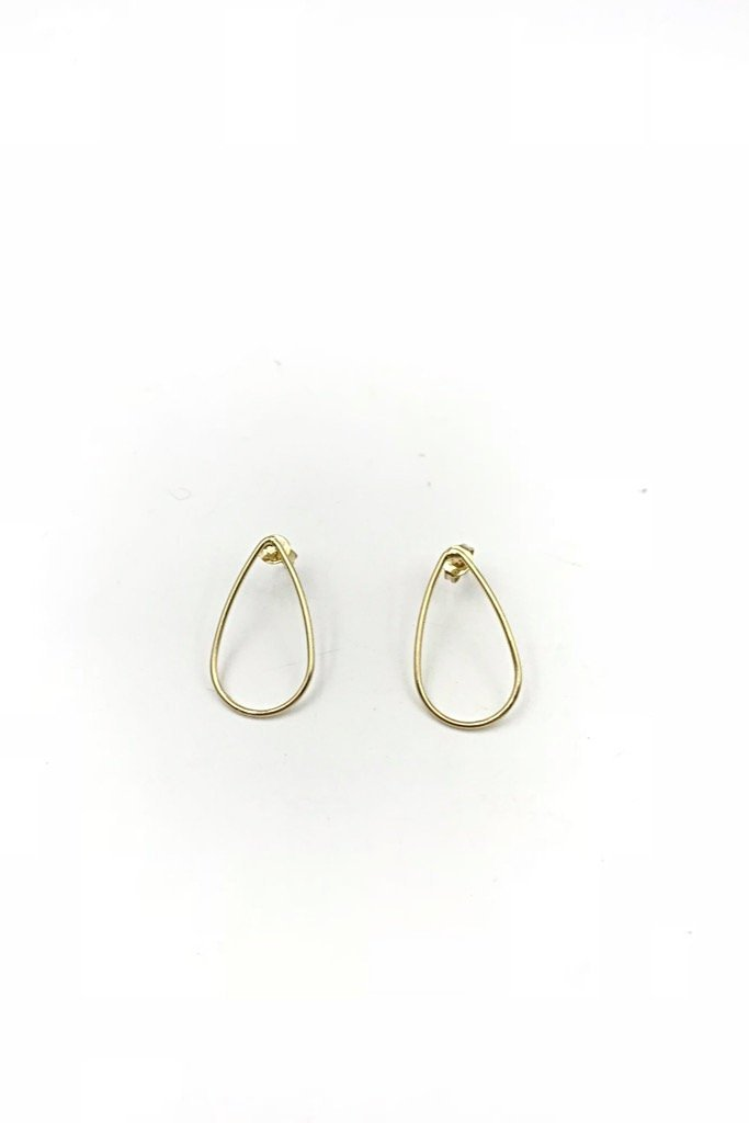 Gold Tear Drop Studs