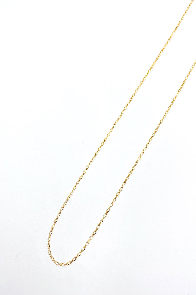 Gold Figure 8 Necklace
