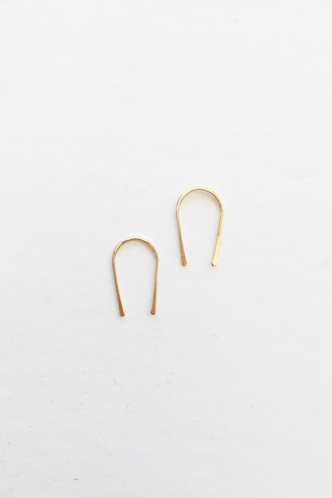 Gold Mini U Hoops