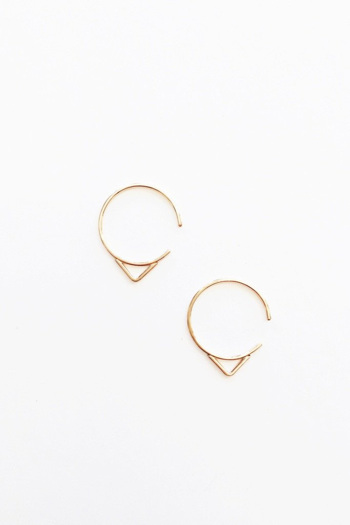 Gold Arrow Hoops
