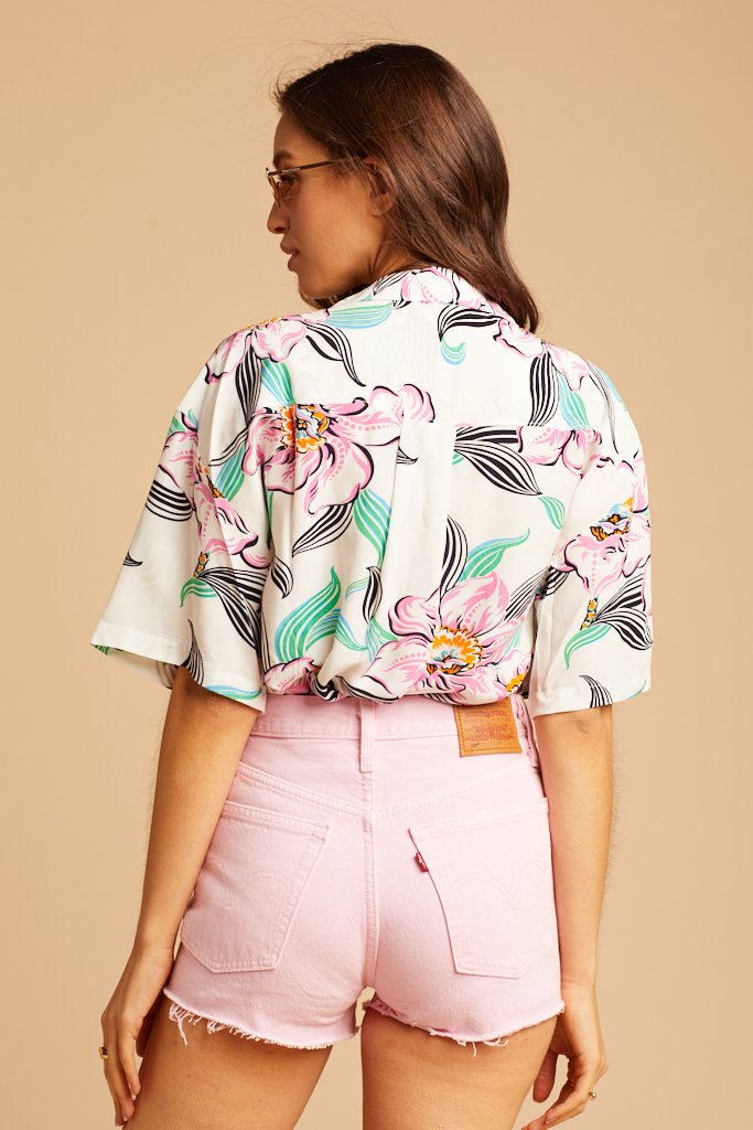 White Tropical Whisper Mahina Shirt