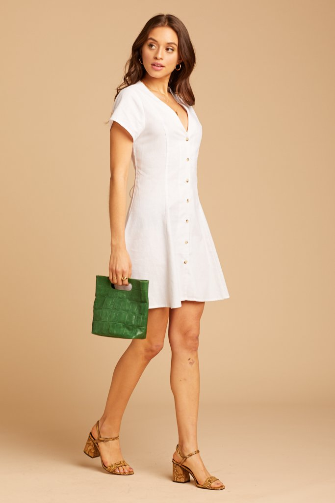 collared linen dress