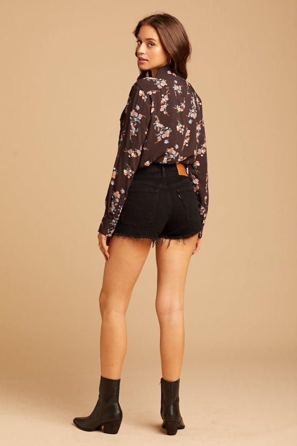 Western Floral Button Up