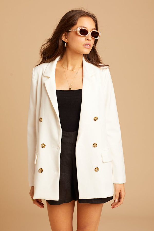 White Kennedy Blazer