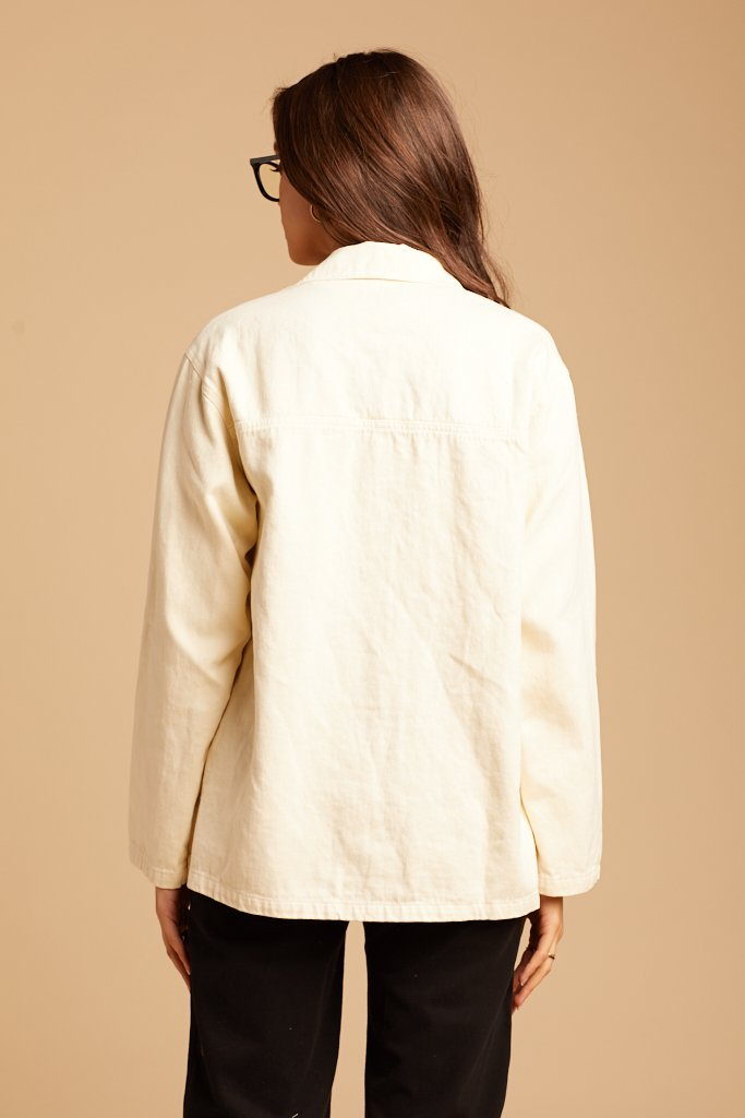 Natural Hemp Utility Jacket