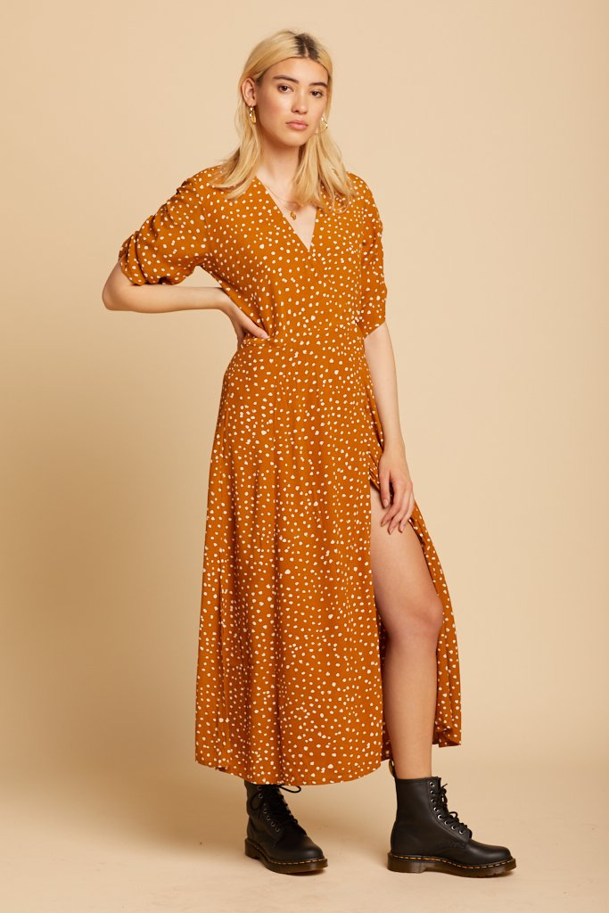 Caramel Chiara Midi Dress