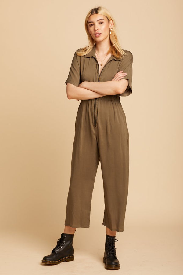 Olive 90s Crush Jumpsuit