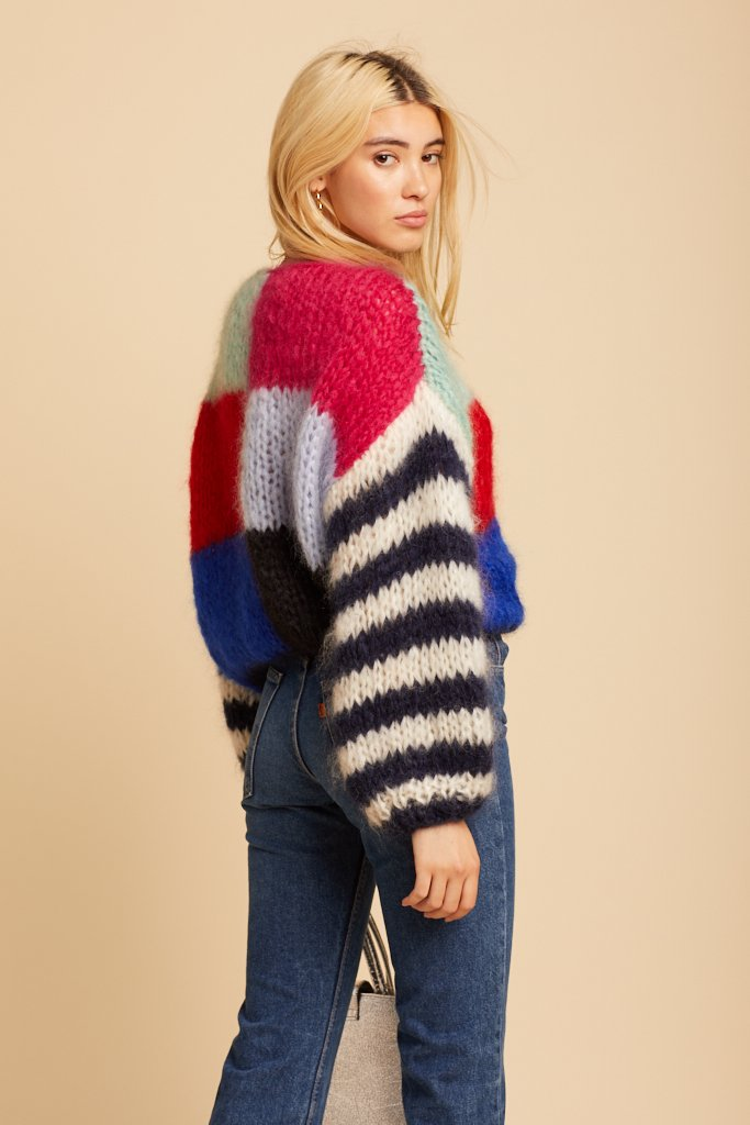 Multicolored Big Mohair Sweater