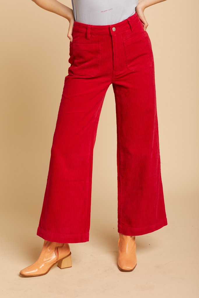 Red Cord Sailor Pant