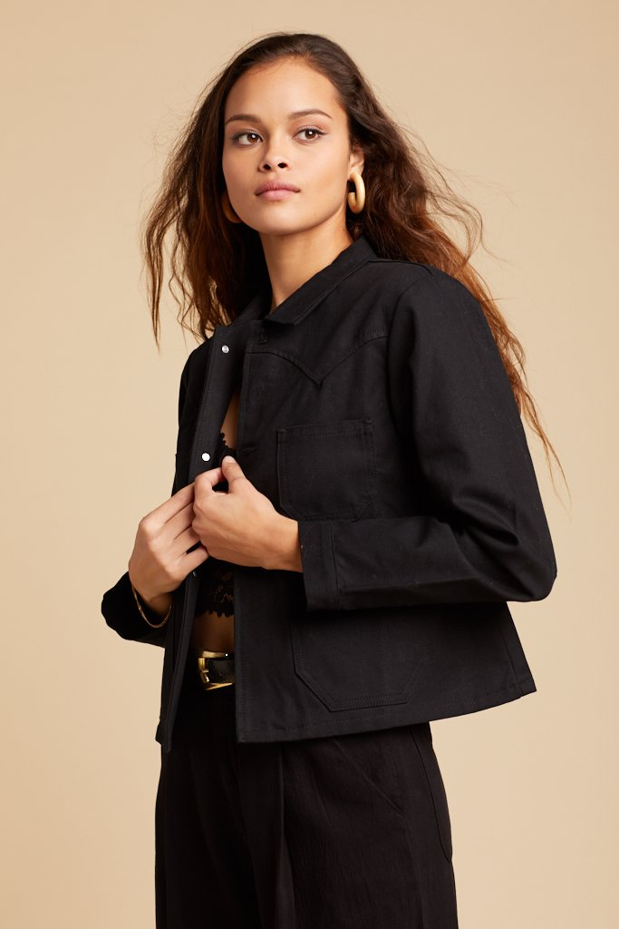 Black Canvas Ranch Jacket