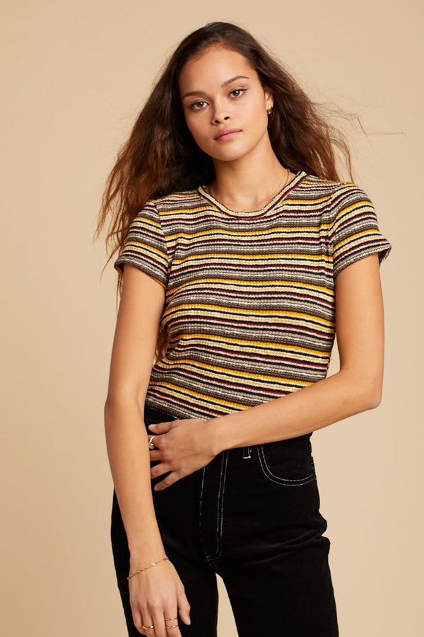 Tigerlily Stripe Ribbed Baby Tee
