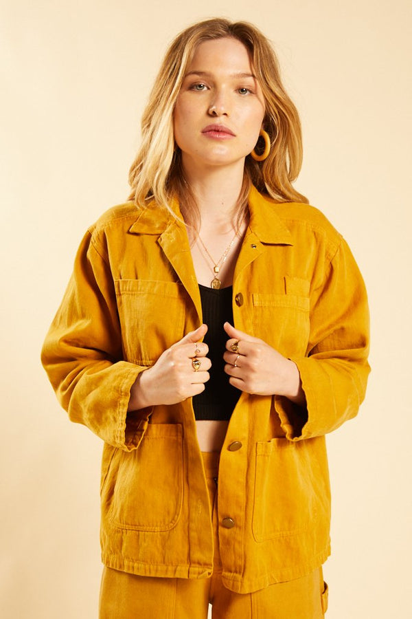 Golden Hemp Utility Jacket