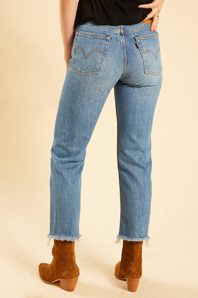 Uncovered Truths Wedgie Straight Jeans