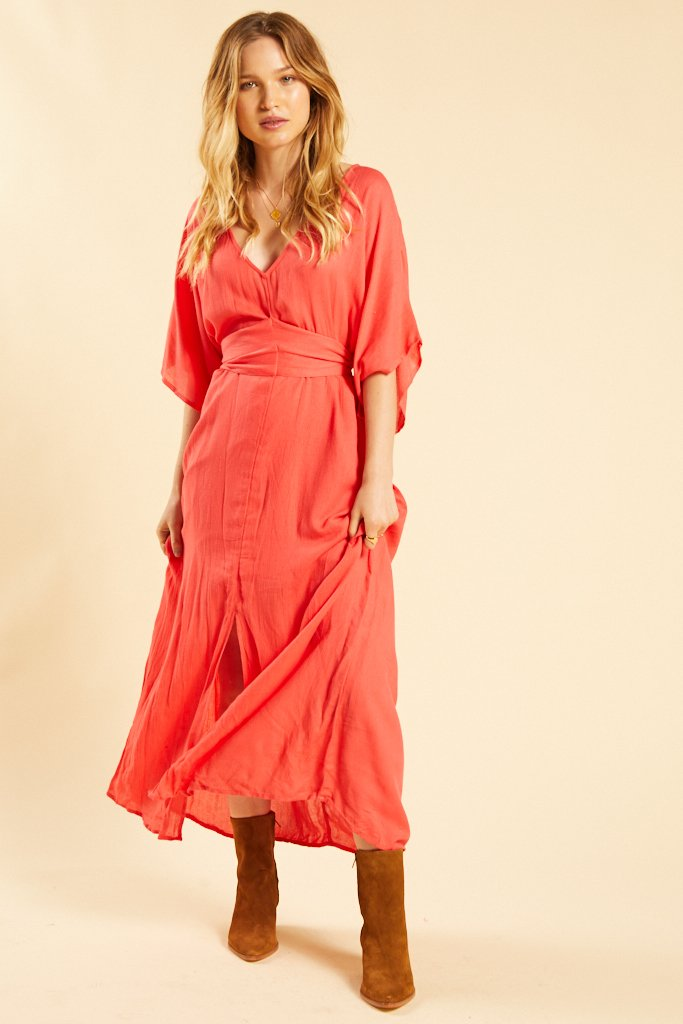 Sunset Red Forever Fine Dress