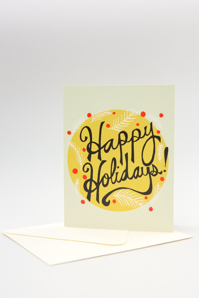 Happy Holidays Radiance Card
