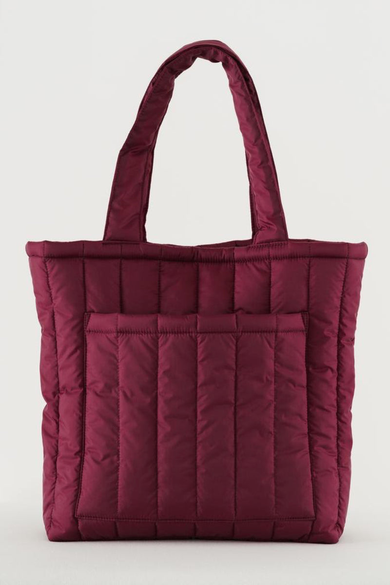 Cranberry Puffy Tote