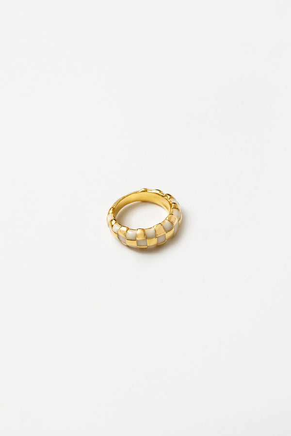 Cream + Gold Libby Ring