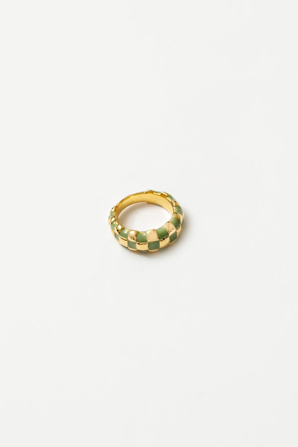 Green + Gold Libby Ring