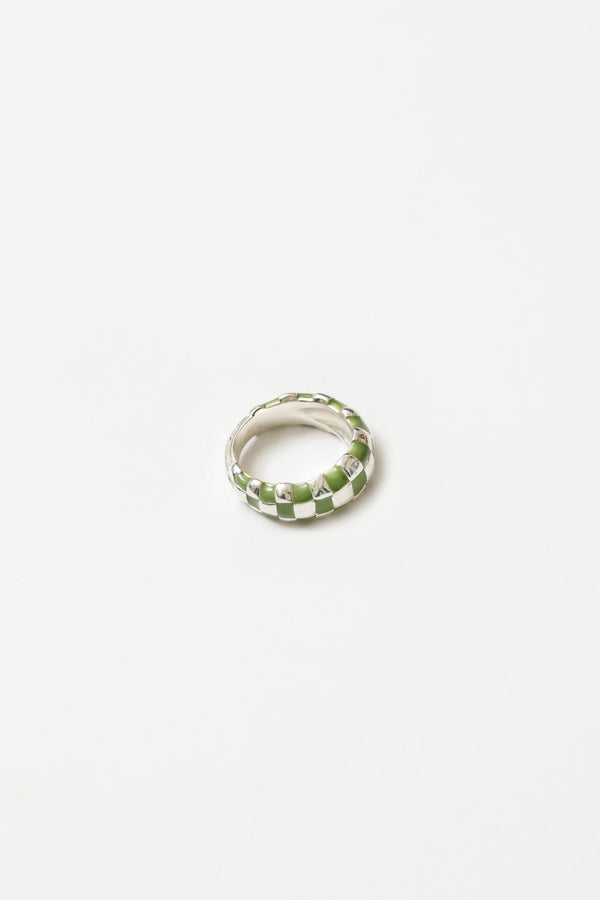 Green + Silver Libby Ring