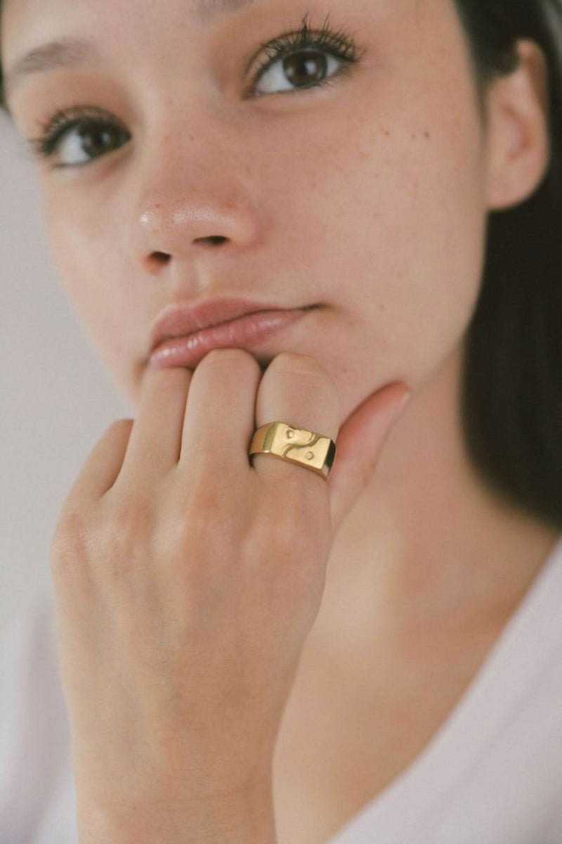 Gold Paxton Signet Ring