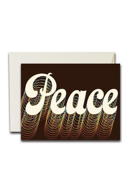 Retro Peace Card