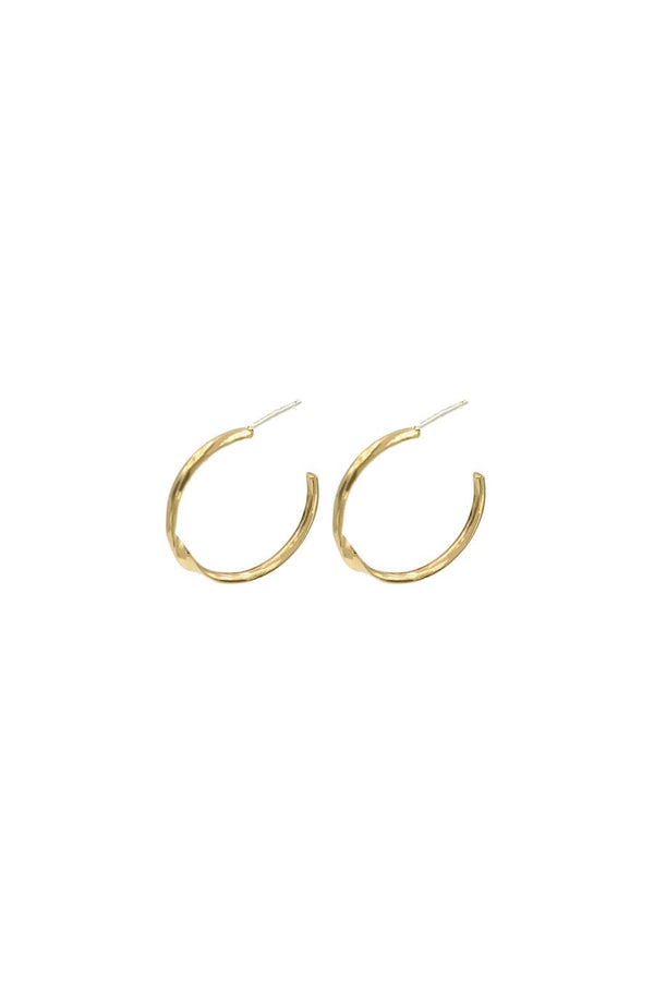 Gold Reverse Hoops