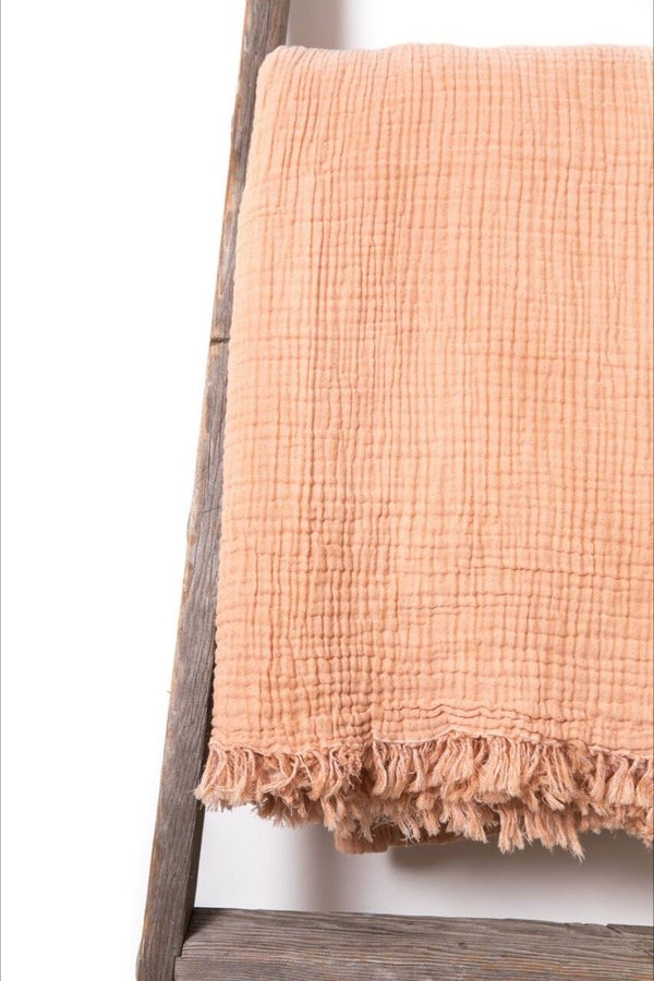 Alaia Peach Bed Cover