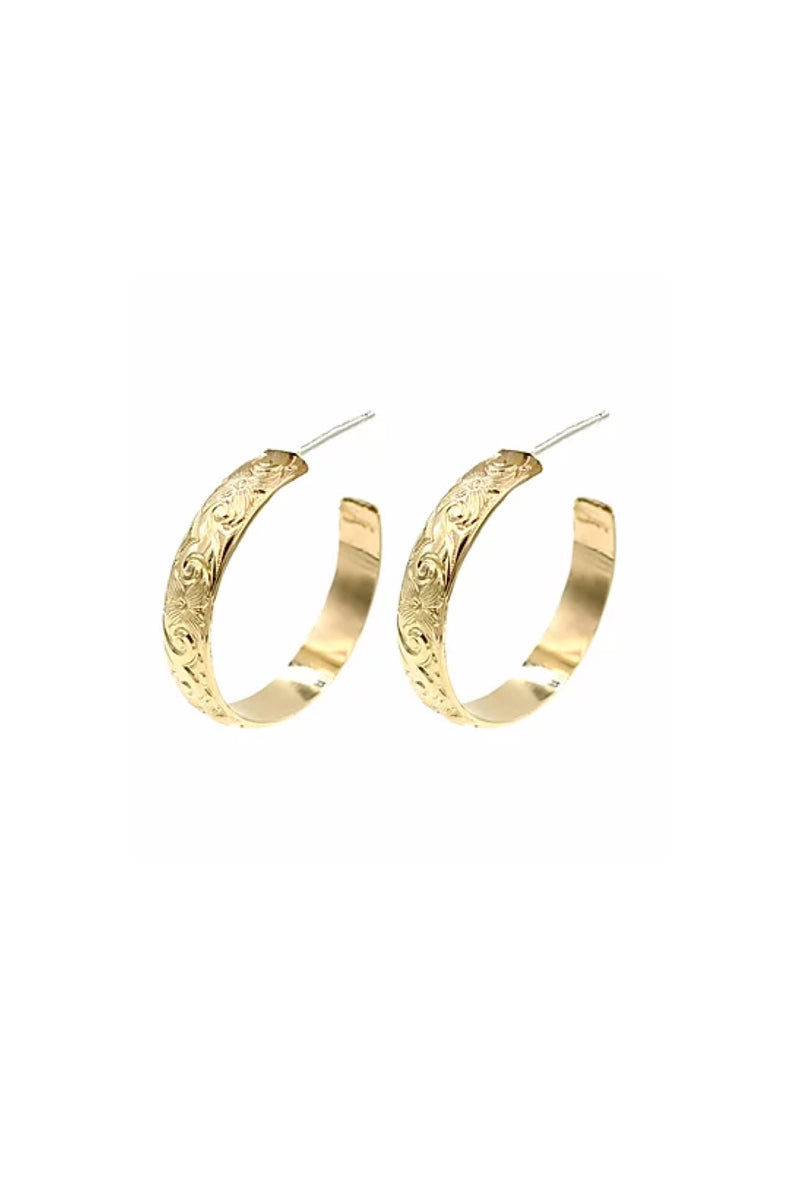 Gold Large Goddess Hoops