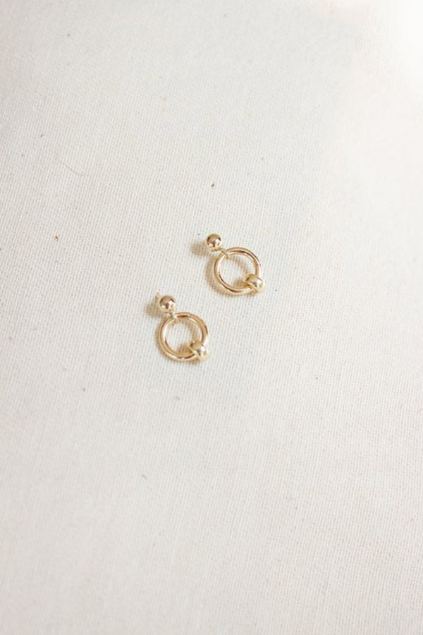 Gold July Studs