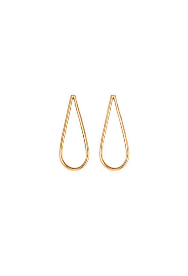 Gold Tear Drop Earrings