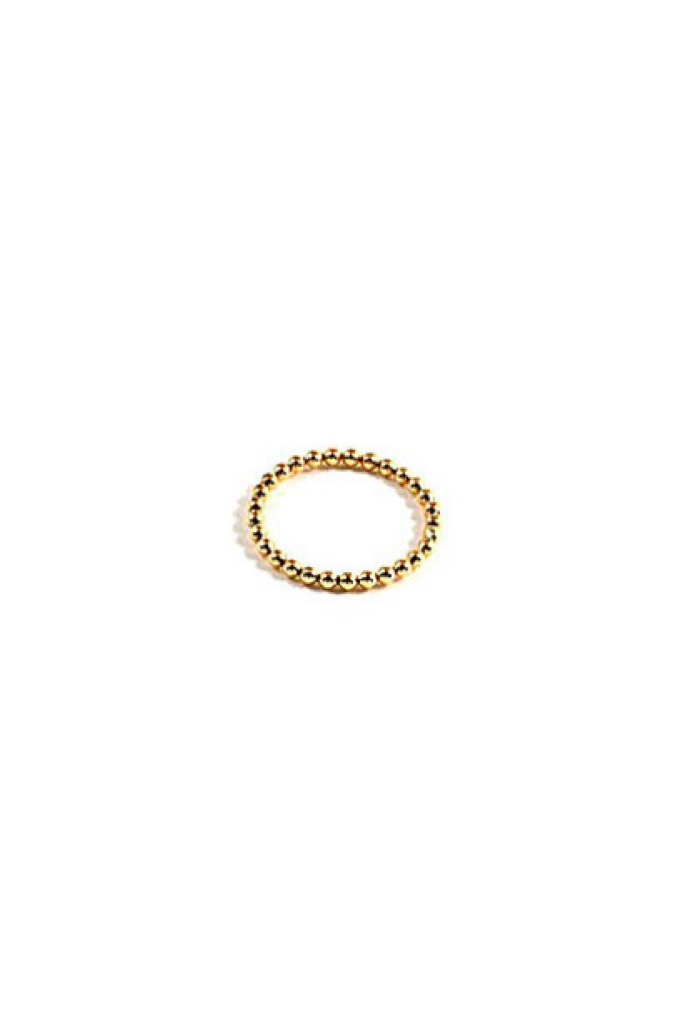 Gold Orb Stack Ring