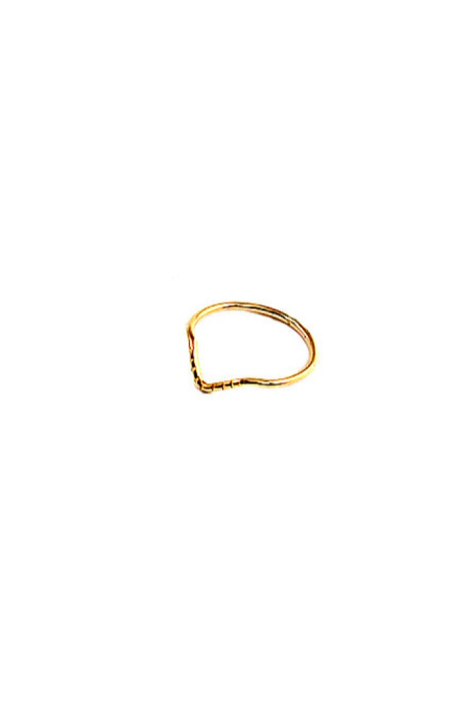 Gold Point Stack Ring
