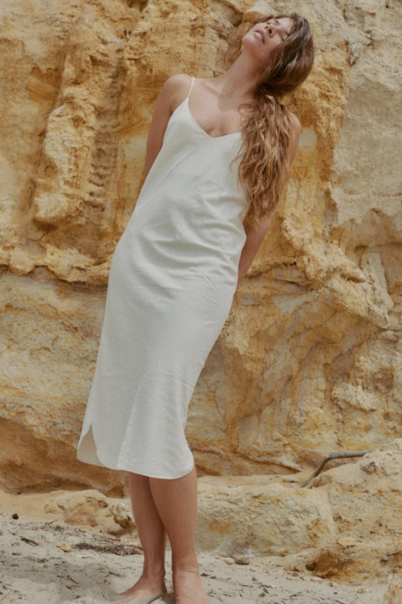 Natural Silk Bias Slipdress