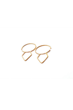 Gold Dial Hoops