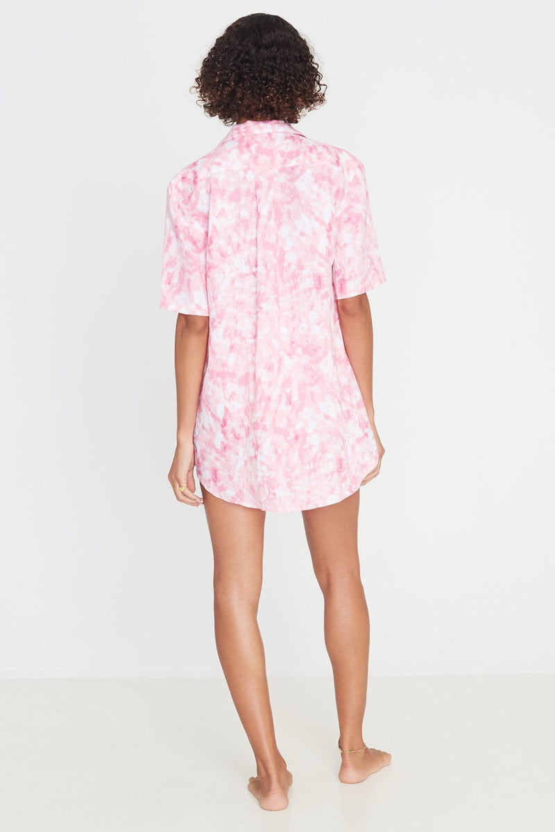 Pink Roos Tie Dye Charlita Shirt Dress