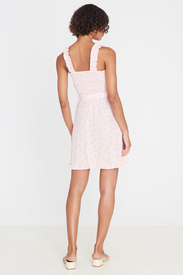Pink Luda Floral Mid Summer Mini Dress