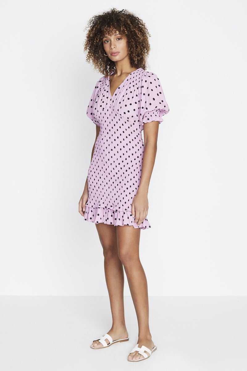 Lilac Sylve Dot Margherita Mini Dress