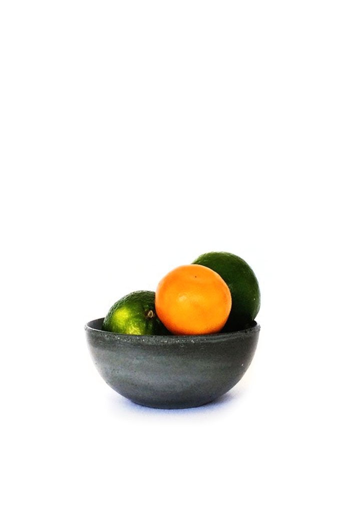 Dark Gray Small Concrete Bowl