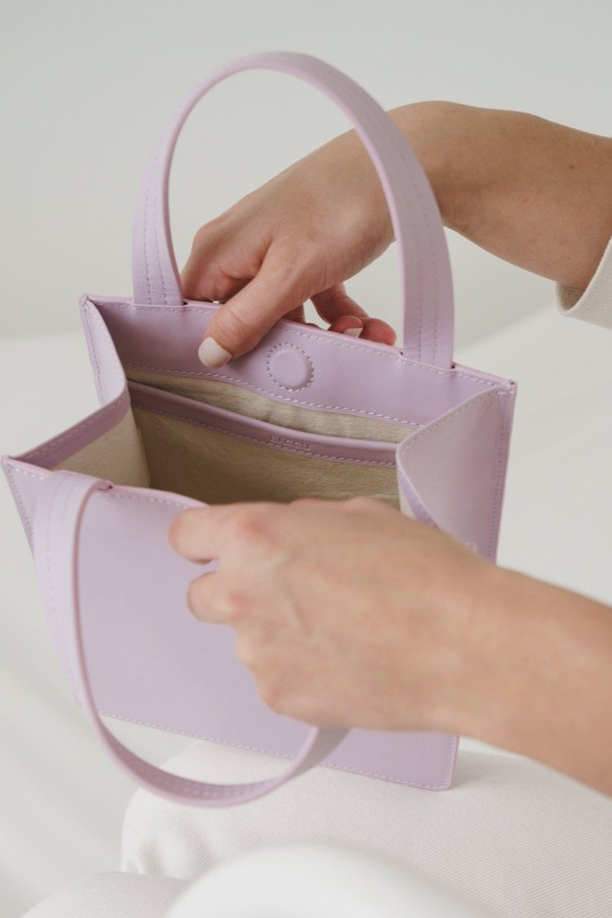 Pale Orchid Small Leather Tote
