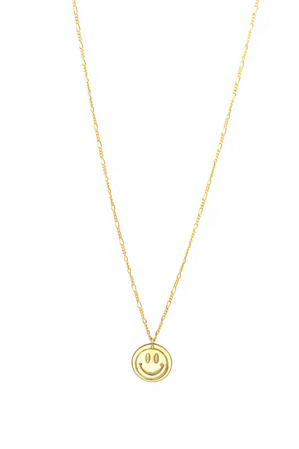 Tiny Smiley Face Necklace