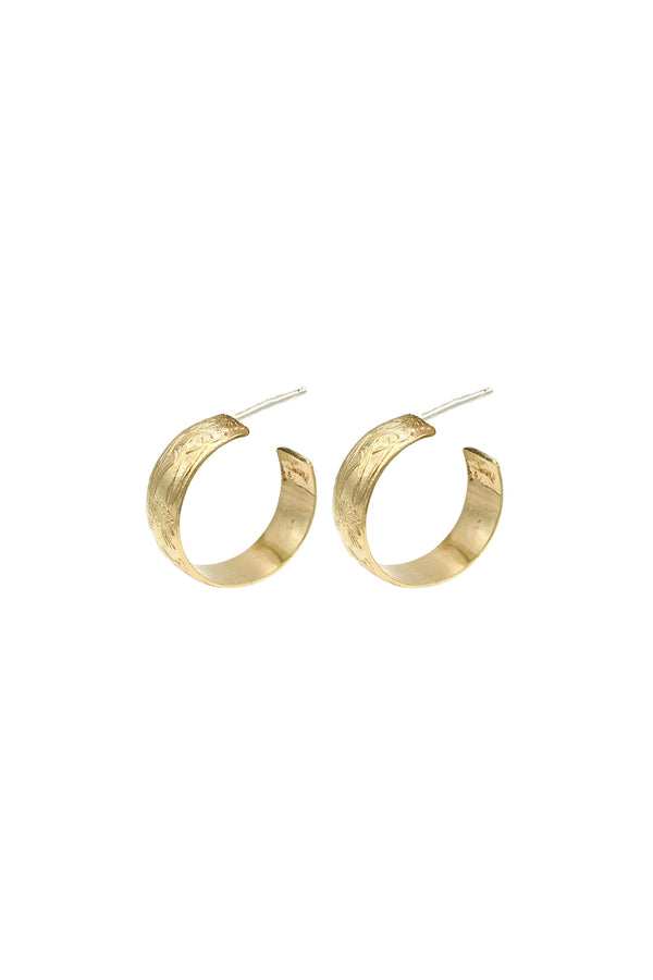 Gold Small Fauna Hoops