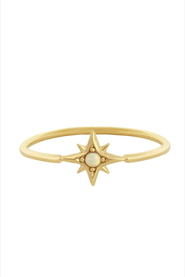 Gold Opal Atlas Ring