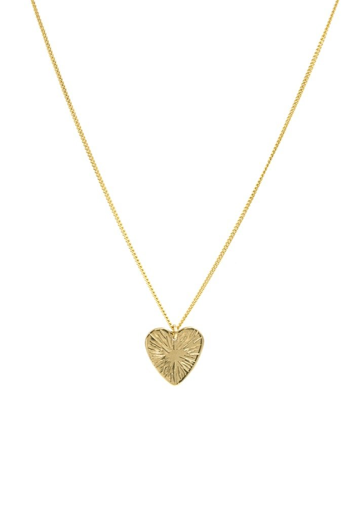 Gold Heart Burst Necklace