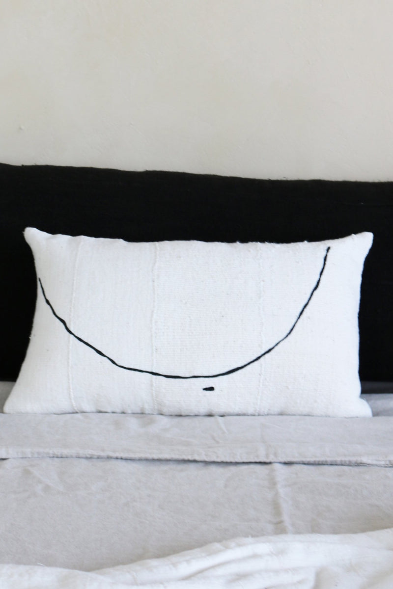 Natural + Black Teta Pillow