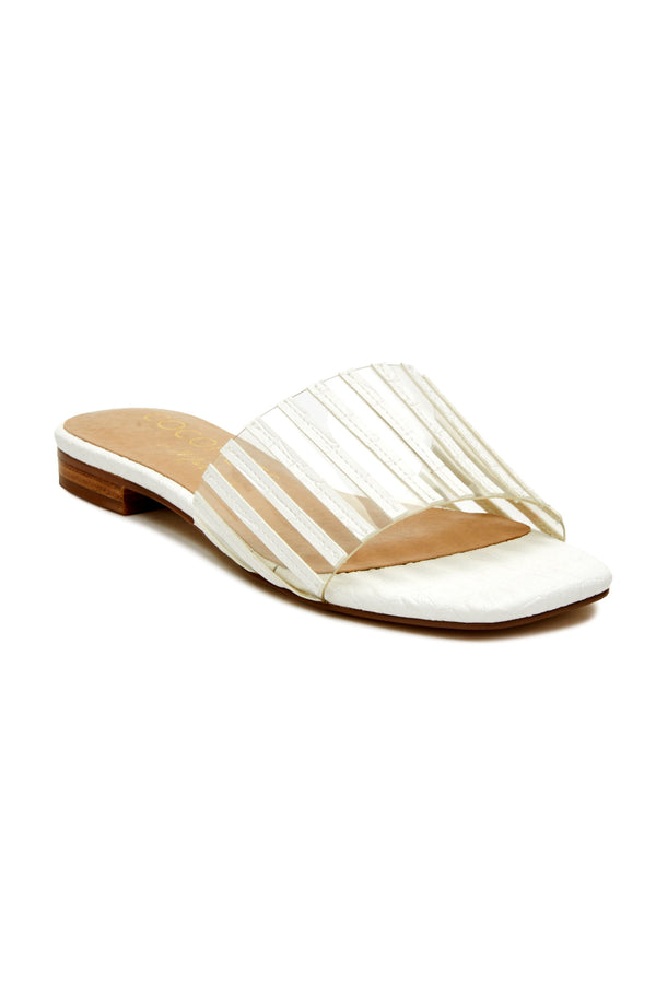 White Up Late Sandal