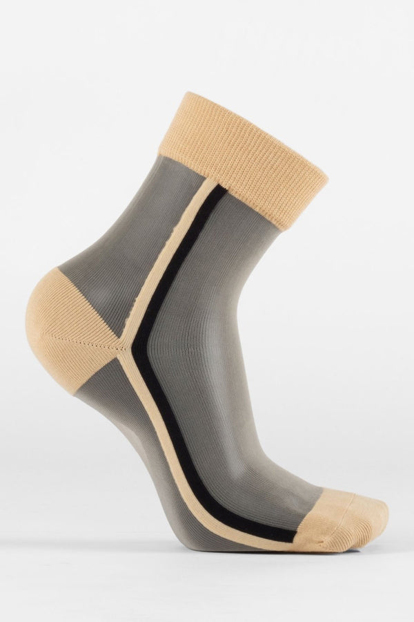 Nude & Black Voir Socks
