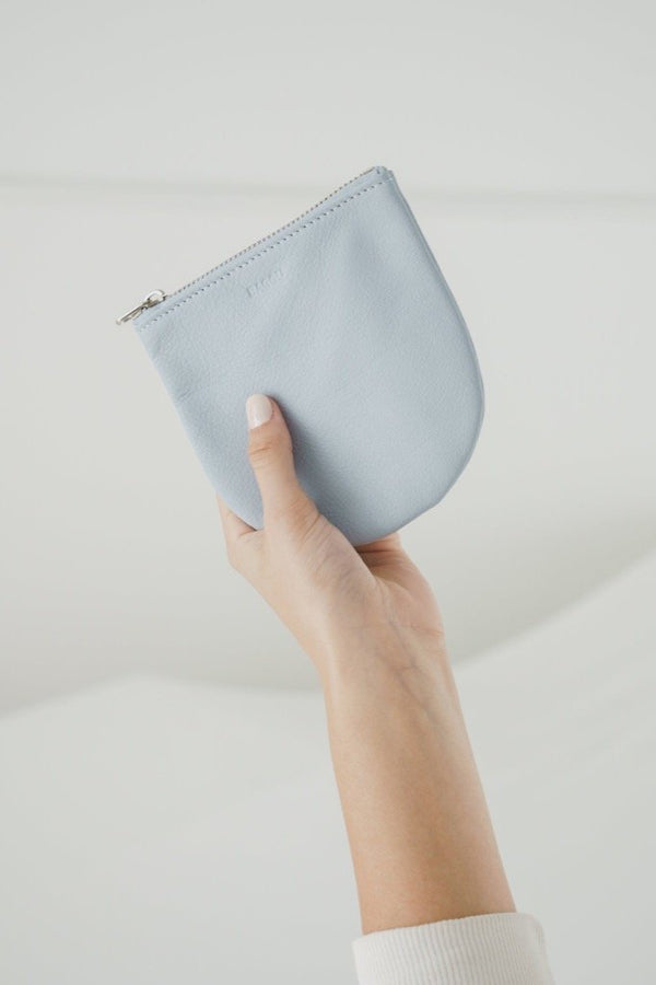 Small Soft Blue U Pouch